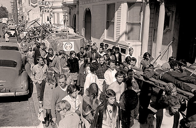 October 7, 1967 – Body Bags In Vietnam – Death Of Hippy: Funeral In The Haight