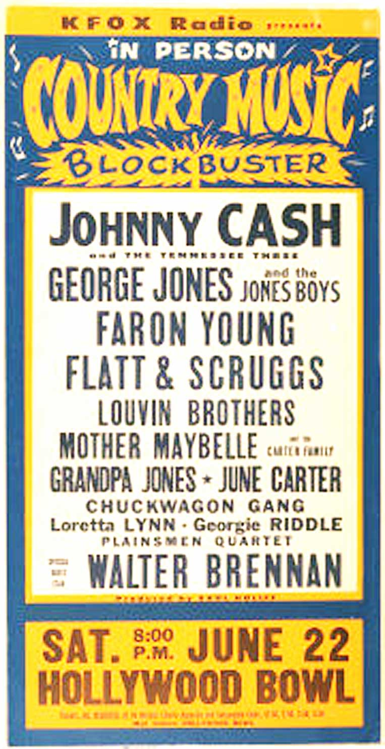 Country Night At The Bowl – 1963 – Johnny Cash, Loretta Lynn, The Louvin Brothers, George Jones, Flatt & Scruggs, Faron Young, June Carter – Past Daily Pop Chronicles
