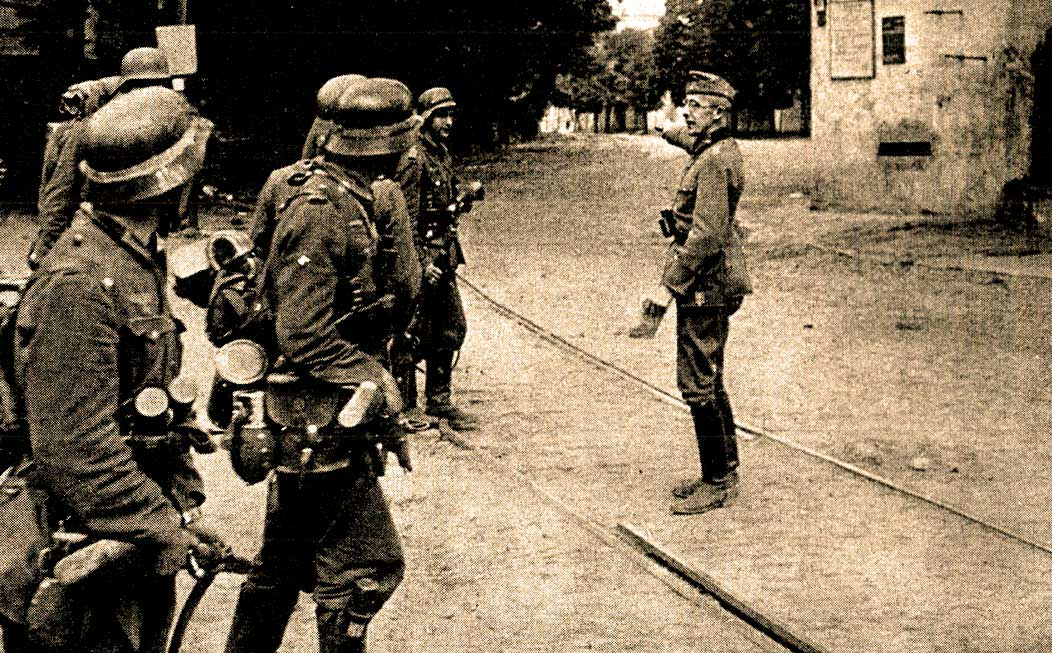 German troops in Kiev