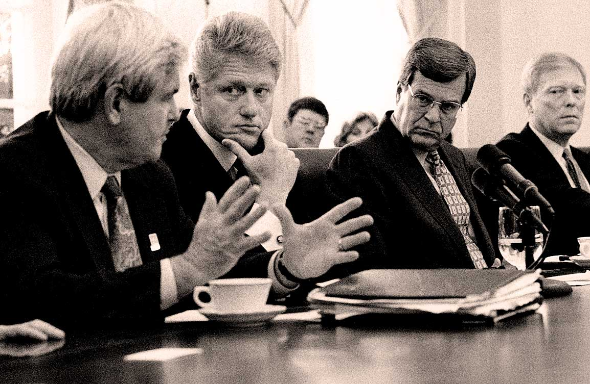 Pres. Clinton and Congressional leaders - 1996