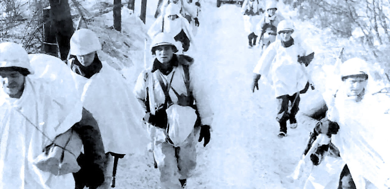 Marching to Bastogne