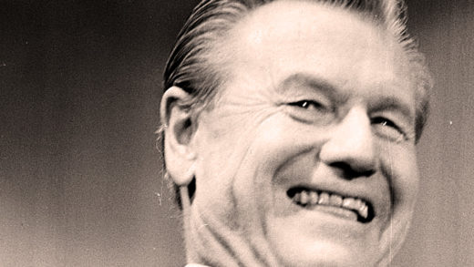 Nelson Rockefeller - why is this man smiling?