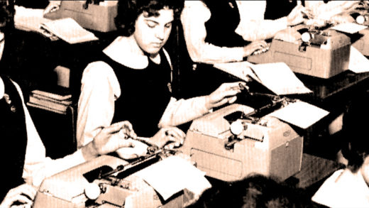 A Philadelphia high School Typing class