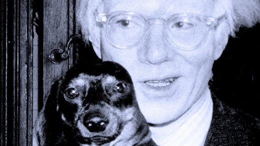 Andy Warhol and friend