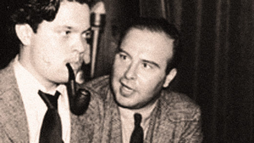 John Houseman (R) with Orson Welles (L)