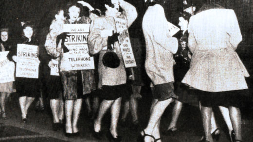 Telephone Operators on Strike- April 1947