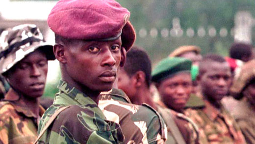 Rebel forces arrive in Kinshasa, Zaire
