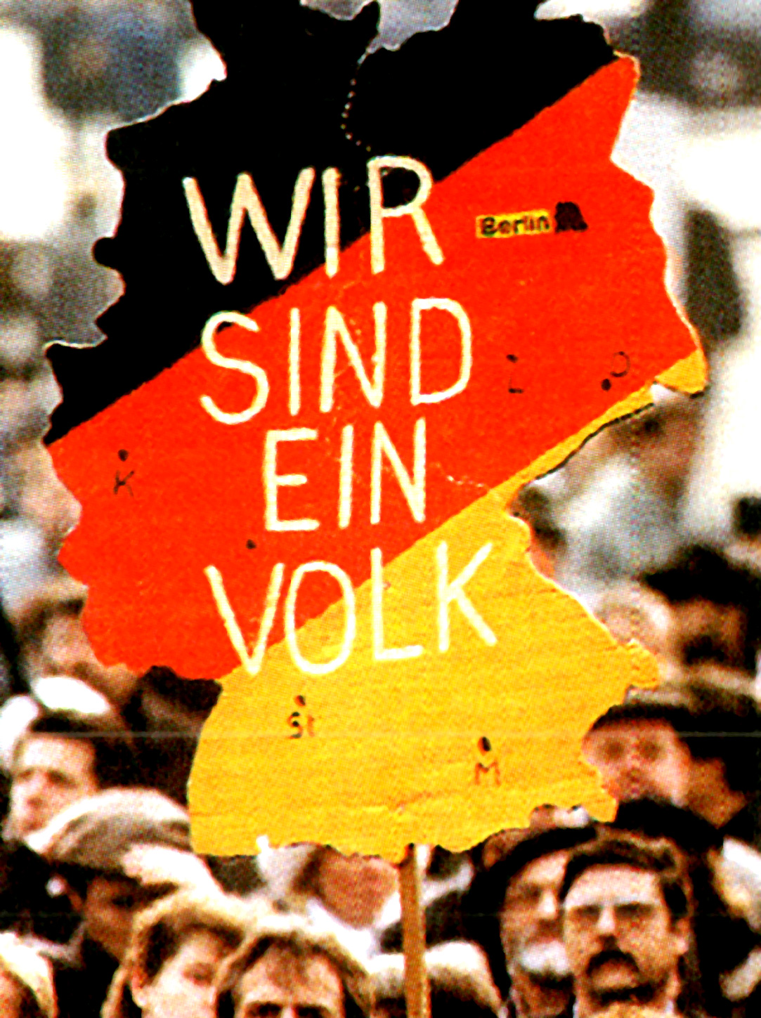 Demonstration for German reunification - May 1990