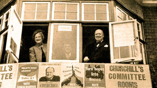 Newly re-elected Winston Churchill