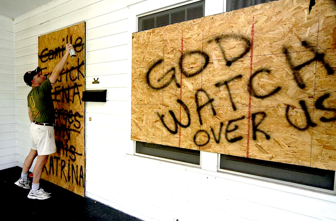 """August 28, 2005 – Hurricane Katrina: """"We Don't Know Where This Thing's Gonna Go""""."""