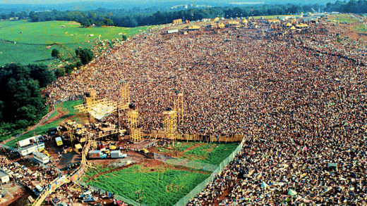 Woodstock - aerial view - August 1969