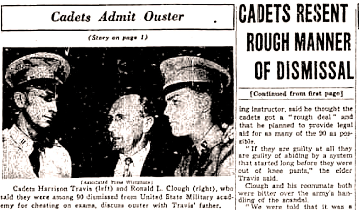 August 3, 1951 – When Scandal Hit An Institution – West Point In Crisis