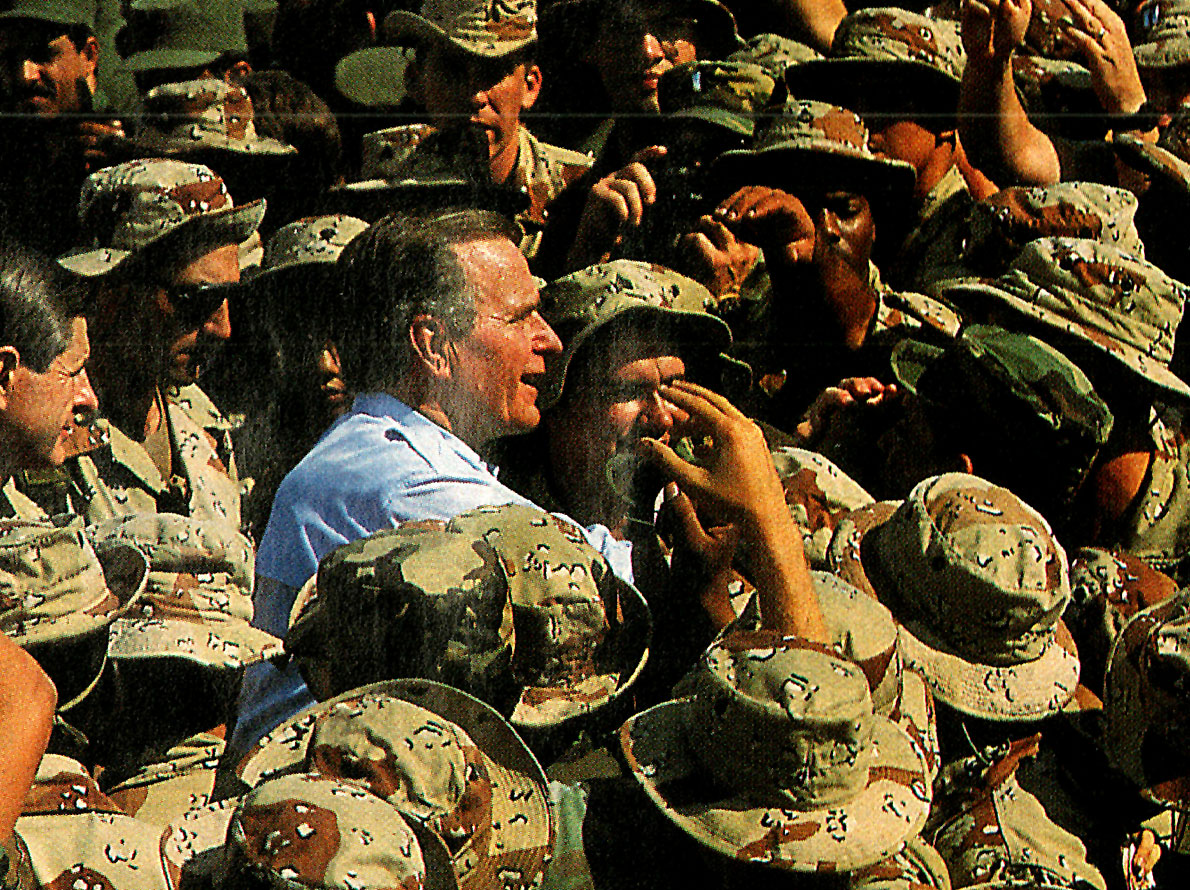 November 17, 1990 – The Bush European/Middle East Tour – A Flurry Of Back-Slapping And Atta-Boys