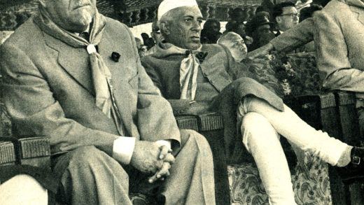 Nikolai Bulganin and Nehru - 1955