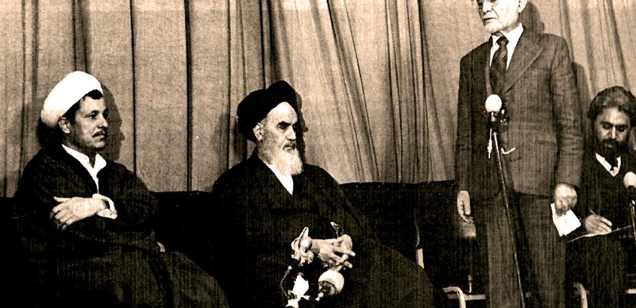 Ayatollah Khomei and Mehdi Bazargan