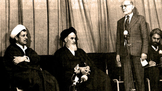 Ayatollah Khomei and Mehdi Bazargan