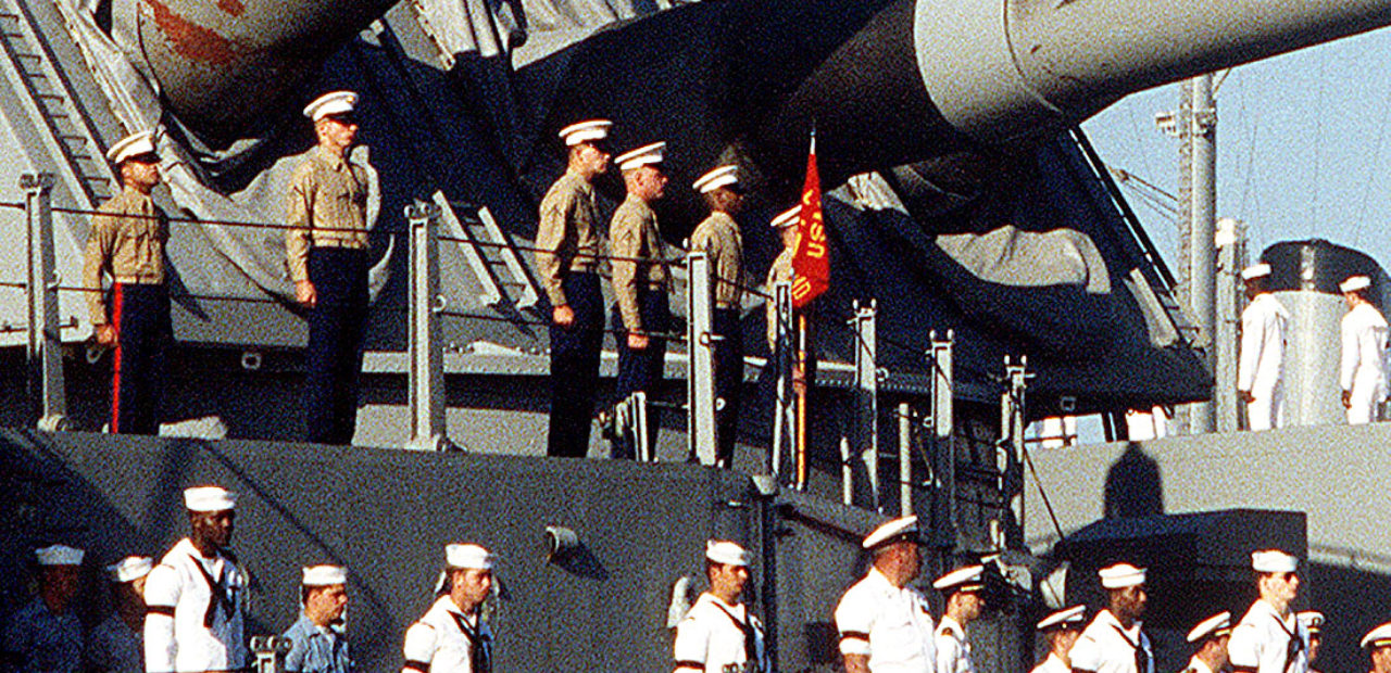 USS Iowa returns to port