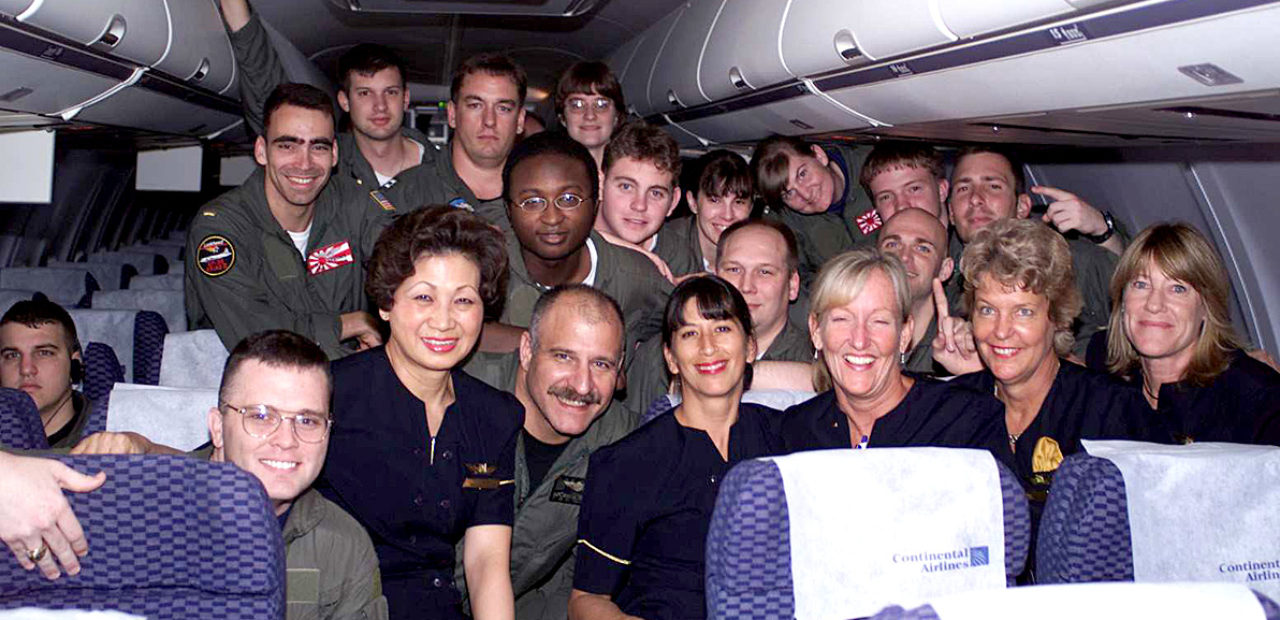 Navy EP-3E crew after release