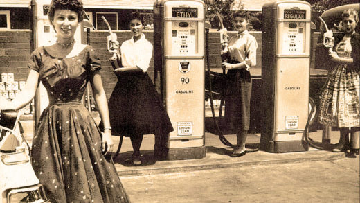 Teenagers at Gas Pumps in San Bernardino