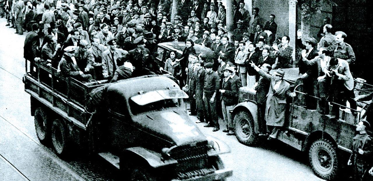 Italian Surrender negotiators en route