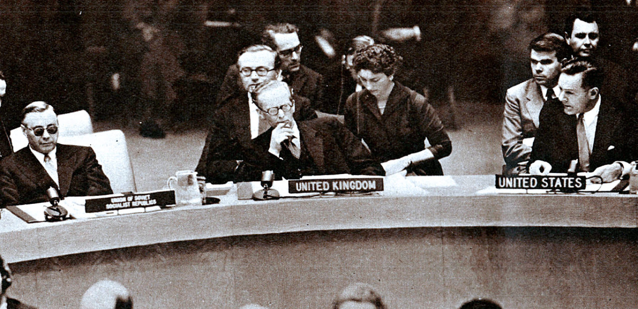 UN General Assembly - Suez Canal Crisis - Nov. 1, 1956