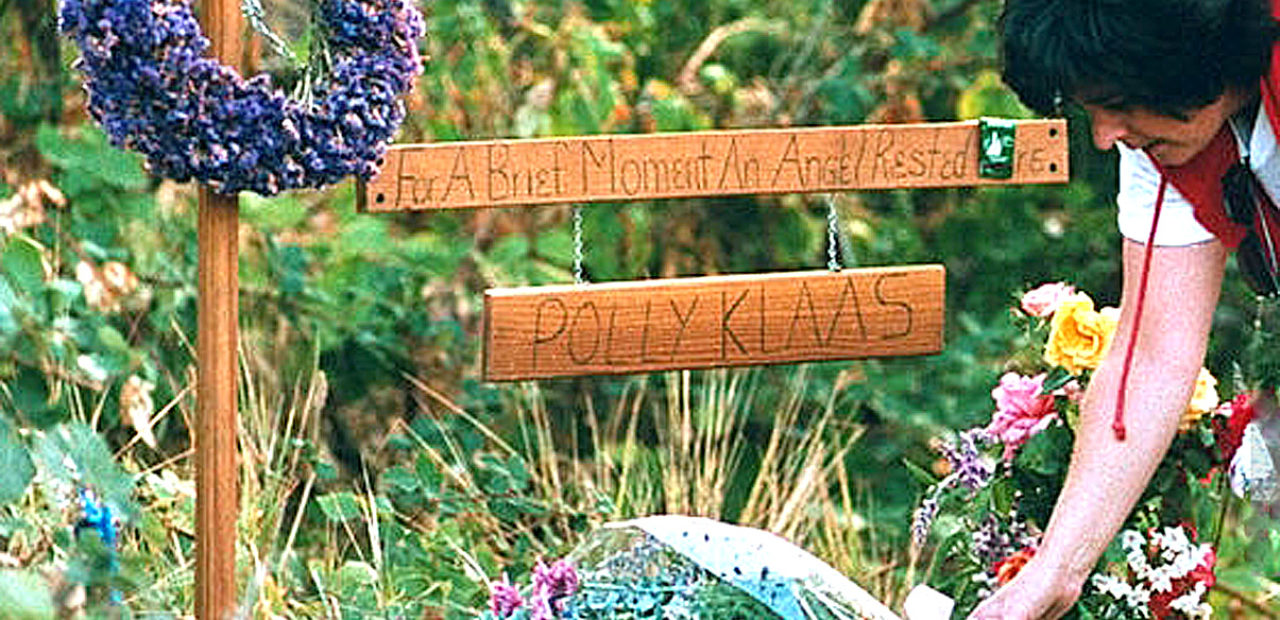Polly Klass makeshift memorial