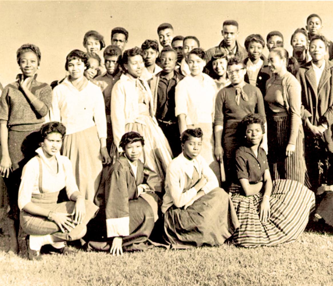 Students at Horace Mann Hi - 1958
