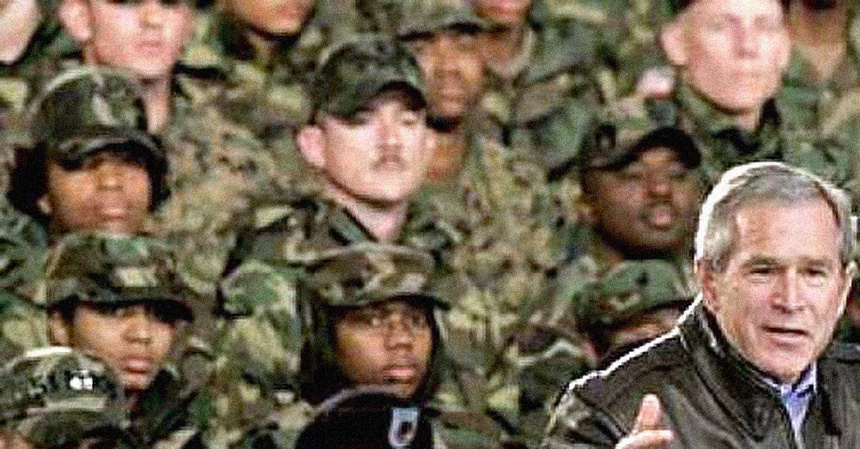 Bush In Bagram, Afghanistan