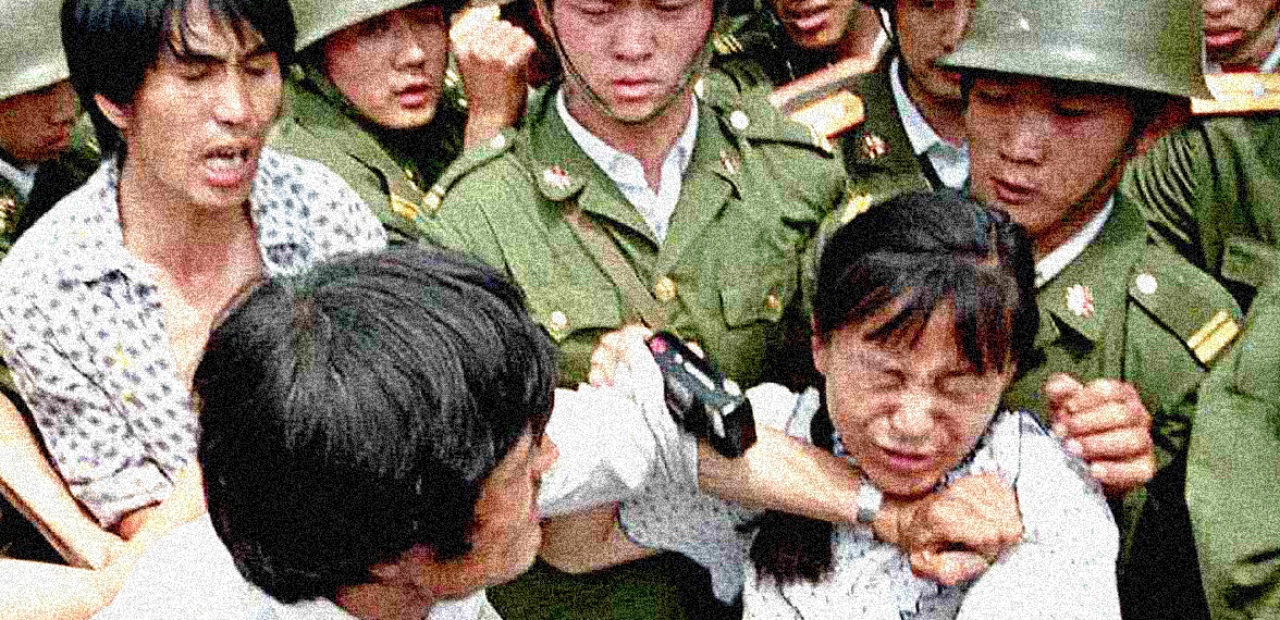 Tiananmen Square Protests - May 22, 1989 - Photo: Associated Press