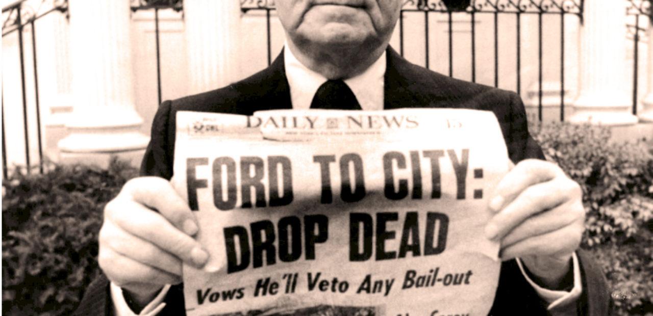Mayor Abraham Beame Of New York - 1975