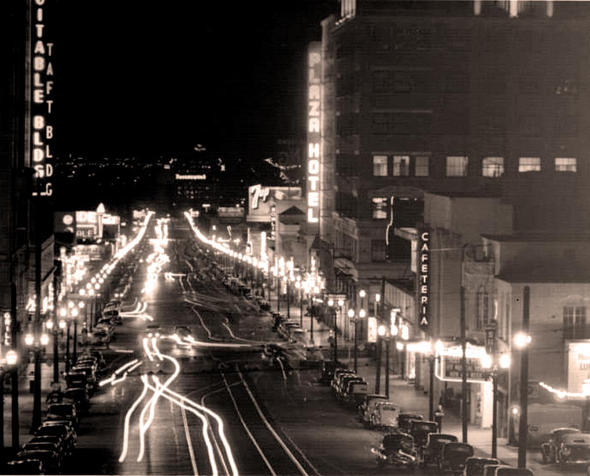 L.A. at Night -circa 1950s