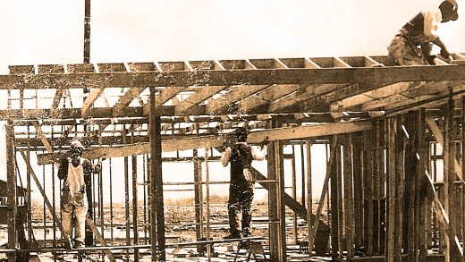 The community builds a house - 1952