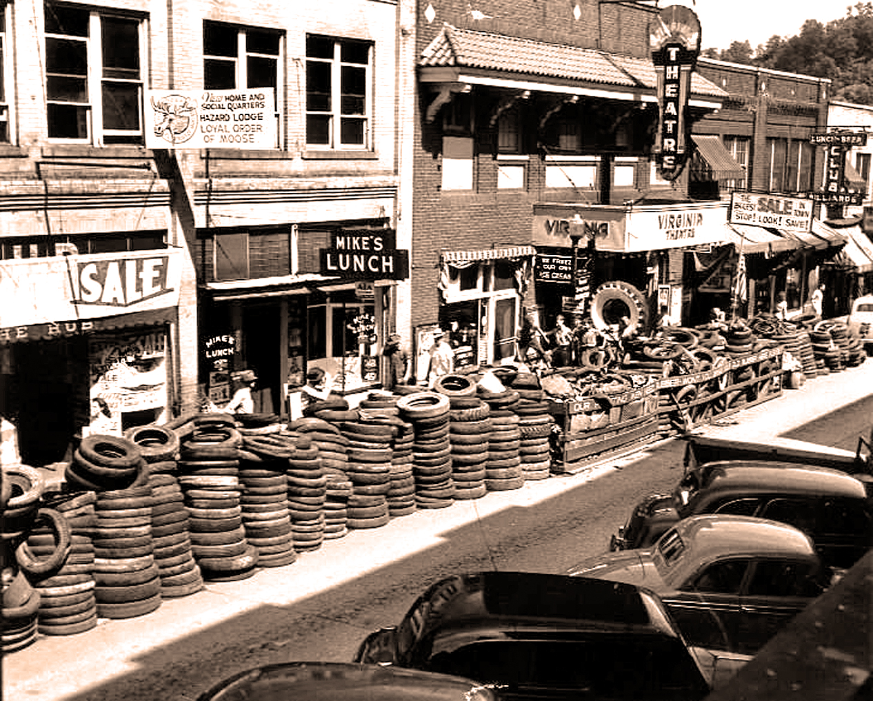 Rounding up Tires - 1942