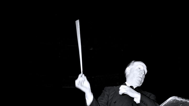 Paul Paray leading an imaginary concert