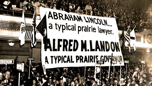 GOP Convention -1936 - Alf Landon banners