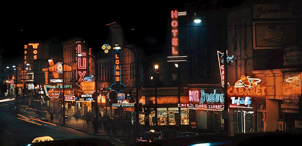 Toronto at Night - 1950s