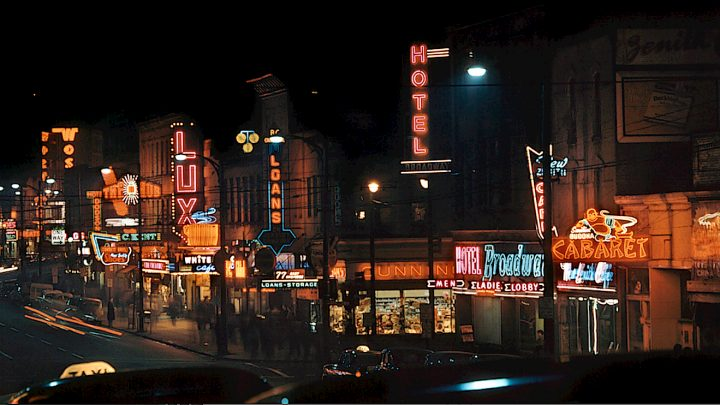 Toronto at Night - 1950s