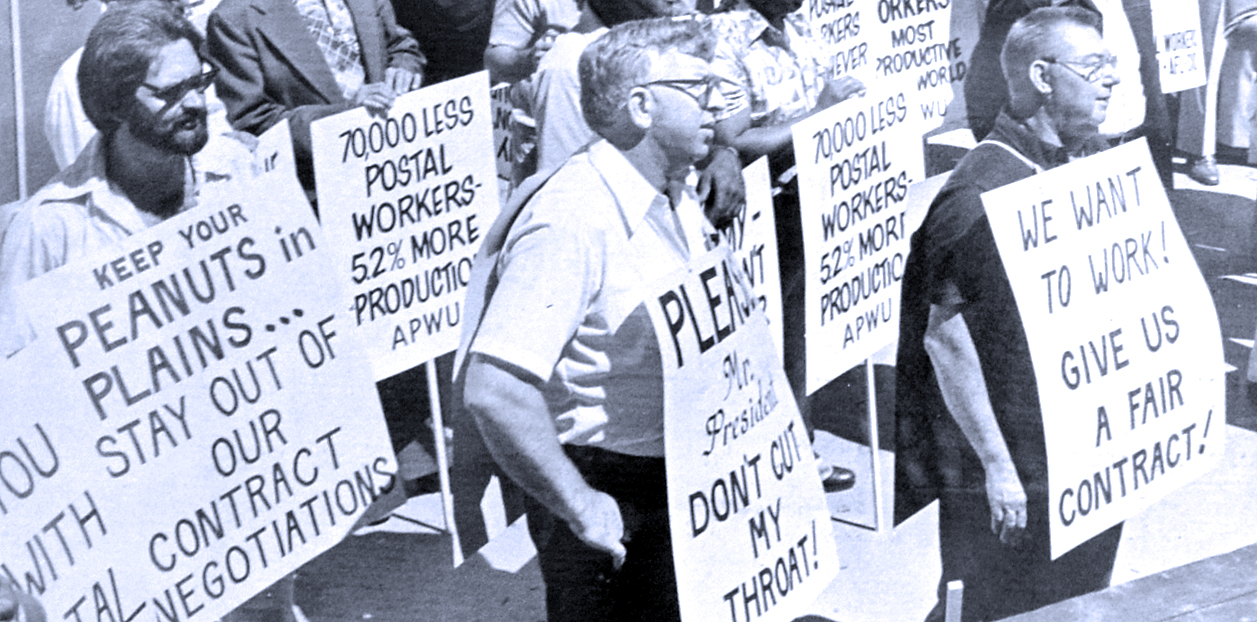 Postal Strike - 1978 (photo: Washington Spark)