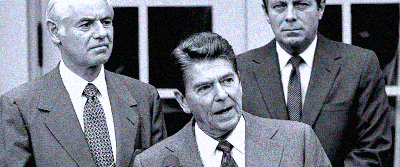 """August 18, 1981 – The Budget Deficit And Increased Defense Spending – Reagan On Air Traffic Controllers:  """"I'm Sure They Were Nice People"""" – Cracking Down On Crime."""