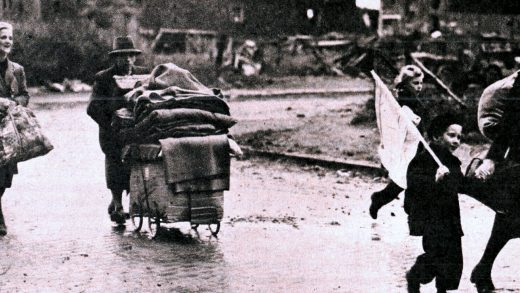 Germans evacuating Aachen
