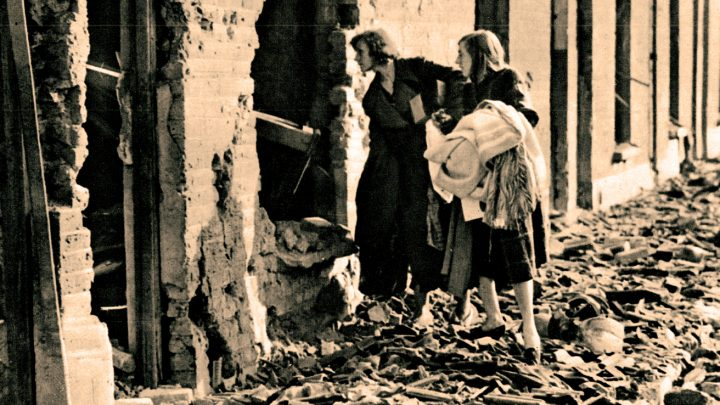 World War 2 was nowhere over, but there was already talk of a humanitarian crisis.