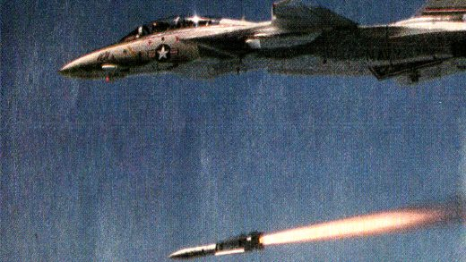 F-14 over Libya.
