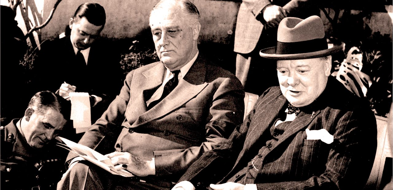 FDR - Churchill - Casablanca Conference