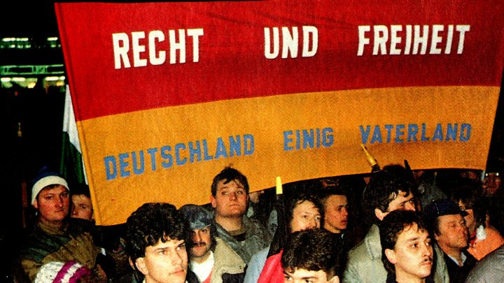 German Reunification Demonstrations - 1990