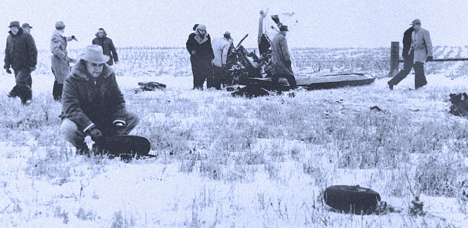 "February 3, 1959 – ""An Airplane Crash Near Clear Lake Iowa""- The Deaths Of Buddy Holly, Richie Valens, The Big Bopper."