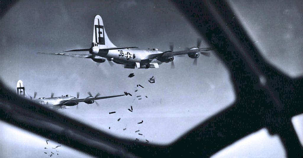 B-29 raid over Japan